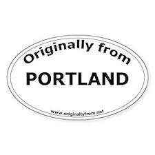 Portland Oval Decal