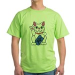 ILY Neko Cat Green T-Shirt