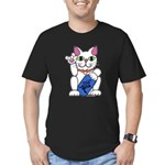 ILY Neko Cat Men's Fitted T-Shirt (dark)