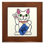 ILY Neko Cat Framed Tile