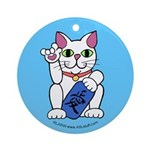 ILY Neko Cat Ornament (Round)