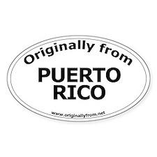 Puerto Rico (U.S. Territory) Oval Decal