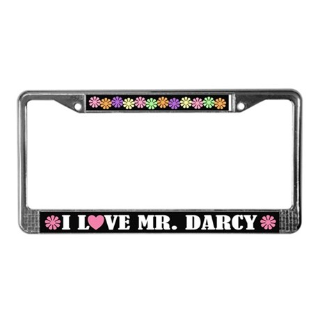 I Love Mr. Darcy License Plate Frame