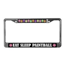 Eat Sleep Paintball License Plate Frame