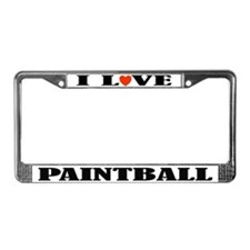 I Love Paintball License Plate Frame