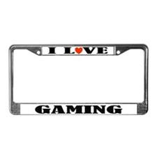I Love Gaming License Plate Frame