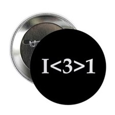 """I<3>1 2.25"""" Button (10 pack)"""