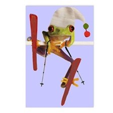 Cute Ski art Postcards (Package of 8)