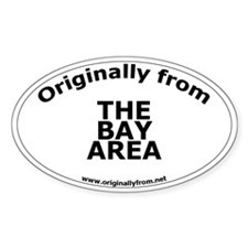 The Bay Area Oval Decal
