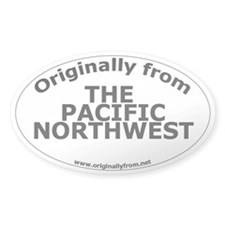 The Pacific Northwest Oval Decal