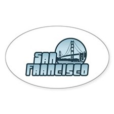 San Francisco Oval Decal