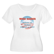 Work Harder - Millions on Wel T-Shirt