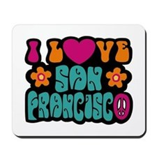 I Love San Francisco Mousepad