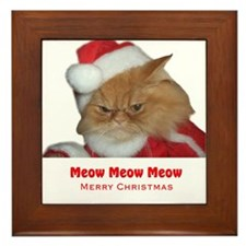 Santa Meow Framed Tile