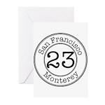 Circles 23 Monterey Greeting Cards (Pk of 20)