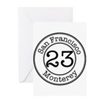 Circles 23 Monterey Greeting Cards (Pk of 10)