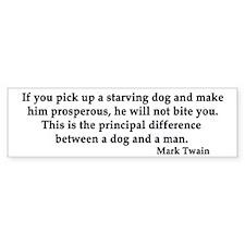 Mark Twain Bumper Bumper Sticker