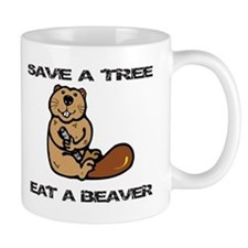 EAT A BEAVER Coffee Mug