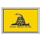 Don't Tread on Me Flag Banner,Gadsden Flag 28&amp;quot