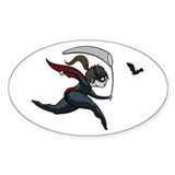 Batgirl Oval Bumper Stickers