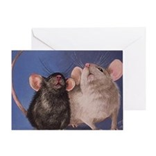 Cute Mouse Art Greeting Card