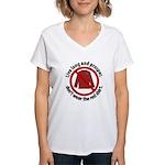 Star Trek Red Shirt Warning Women's V-Neck T-Shirt