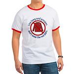 Star Trek Red Shirt Ban Greeting Ringer T