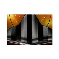 Vintage Concept Car Grill Rectangle Magnet