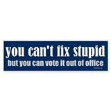 You can't fix stupid Bumper Car Sticker