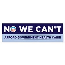 No We Can't Bumper Bumper Sticker