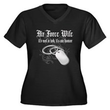 Air Force Wife - It's not a J Women's Plus Size V-