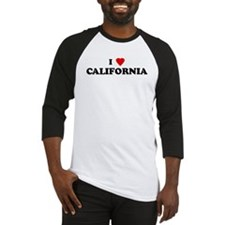 I Love CALIFORNIA Baseball Jersey