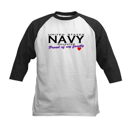 US Navy Daughter Kids Baseball Jersey
