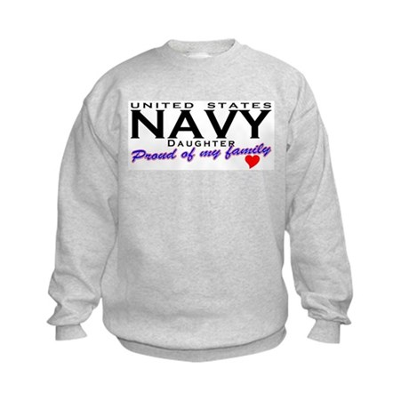 US Navy Daughter Kids Sweatshirt