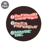 "New Moon Papercut 3.5"" Button (10 pack)"
