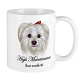 Captioned Maltese Small Mugs