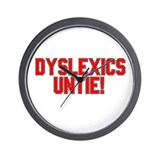 Dyslexics Unite Wall Clock