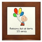 Balloons full of farts.. Framed Tile
