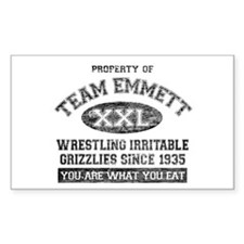 Property of Team Emmett Rectangle Sticker 50 pk)