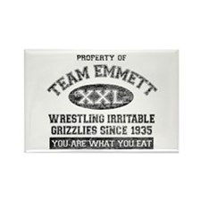 Property of Team Emmett Rectangle Magnet (10 pack)