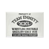 Property of Team Emmett Rectangle Magnet (100 pack
