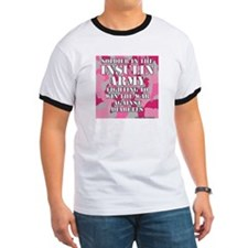 Insulin Army- Pink/Green T