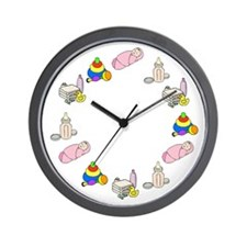 Baby Girl Wall Clock