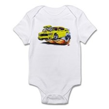 Charger Daytona Yellow Car Infant Bodysuit