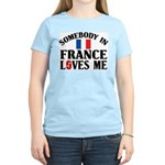 Somebody In France Women's Pink T-Shirt