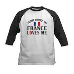 Somebody In France Kids Baseball Jersey