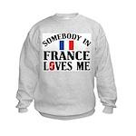 Somebody In France Kids Sweatshirt