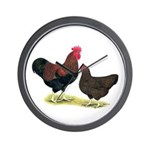Partridge Plymouth Rocks Wall Clock