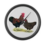 Partridge Plymouth Rocks Large Wall Clock