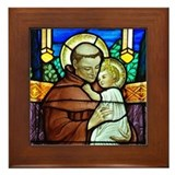 St Anthony window Framed Tile